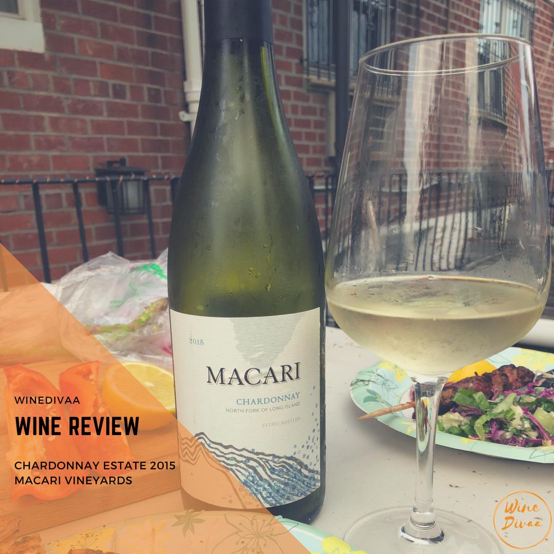 Wine Reviews Chardonnay Estate Macari Vineyards 2015